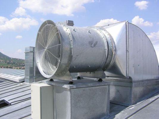 Крышной вентилятор подпора