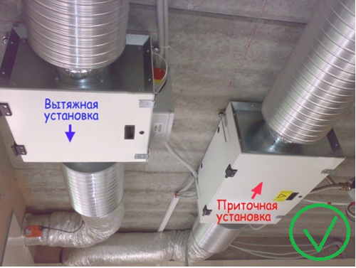 Правильная вентиляционная установка в бассейне