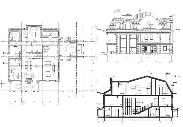 Пример архитектурных планов здания
