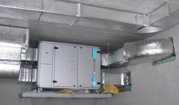 Фото установки с рекуператором тепла