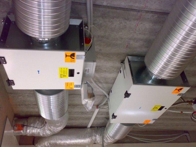Отдельно приточная и вытяжная вентиляционные установки