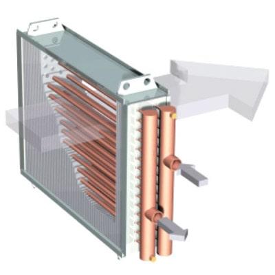 Секция нагрева в приточной вентиляции